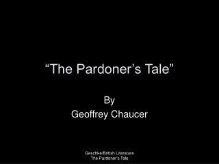 �The Pardoner�s Tale�