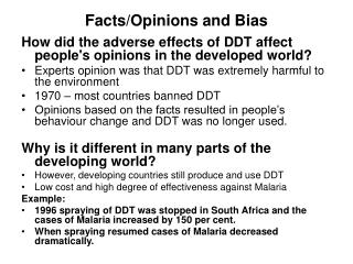 Facts/Opinions and Bias