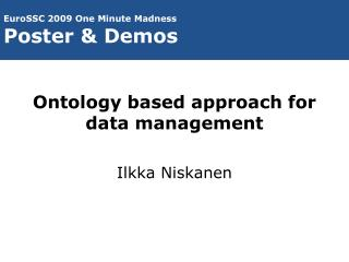 Ontology based approach for data management