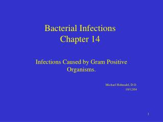 Bacterial Infections Chapter 14