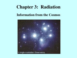 Chapter 3:  Radiation