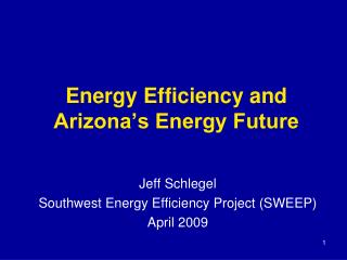 Energy Efficiency and Arizona's Energy Future