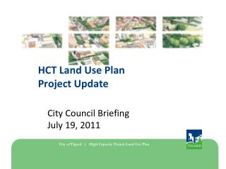 HCT Land Use Plan Project Update