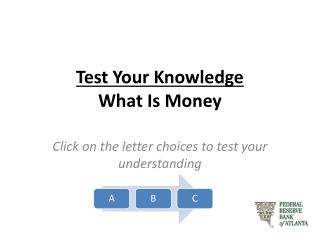 Test Your Knowledge What Is Money