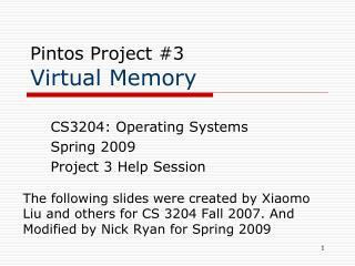 Pintos Project #3 Virtual Memory
