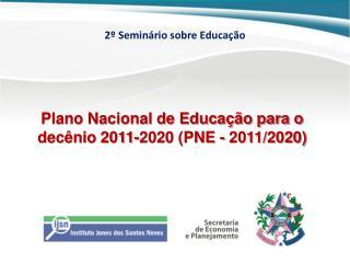 2º Seminário sobre Educação