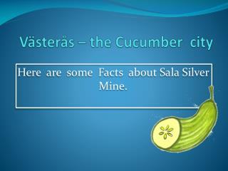Västerås – the  Cucumber   city