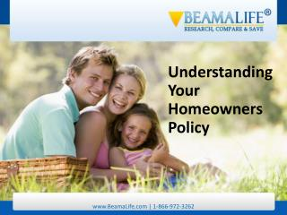 Understanding Your Homeowners Policy