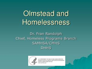 Olmstead and Homelessness