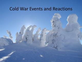 Cold War Events and Reactions