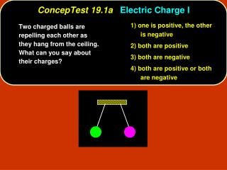 ConcepTest 19.1a Electric Charge I