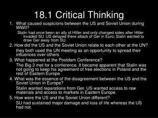 18.1 Critical Thinking