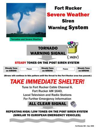 TORNADO WARNING SIGNAL