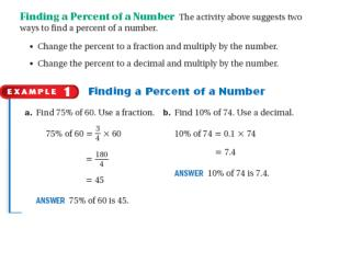 Finding Percent of a Number