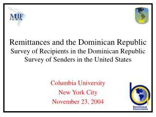 Columbia University New York City November 23, 2004