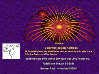 Notice Communication Address