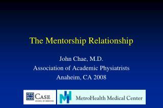 The Mentorship Relationship
