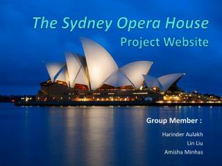 The Sydney Opera House  Project Website