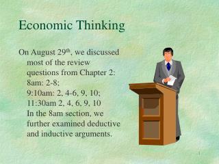 Economic Thinking