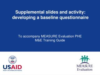 Supplemental slides and activity: developing a baseline questionnaire