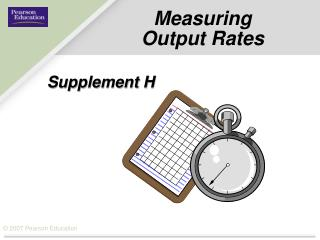 Measuring Output Rates