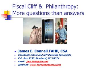Fiscal Cliff &  Philanthropy:  More questions than answers