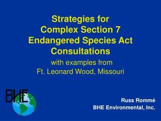 Russ Romm � BHE Environmental, Inc.