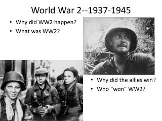 World War 2--1937-1945