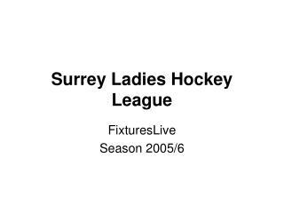 Surrey Ladies Hockey League