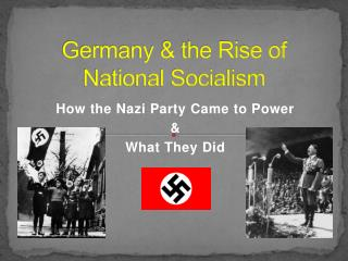 Germany & the Rise of National Socialism