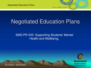Negotiated Education Plans