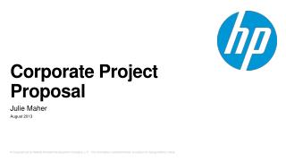 Corporate Project Proposal