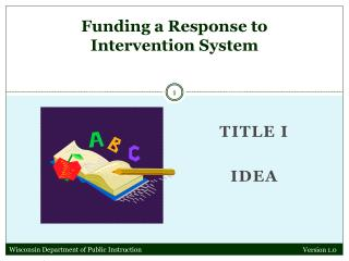 Funding a Response to Intervention System