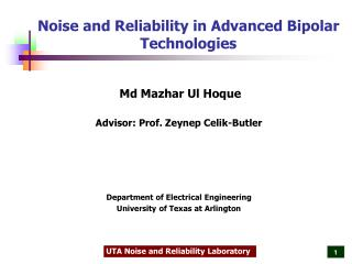 Noise and Reliability in Advanced Bipolar Technologies