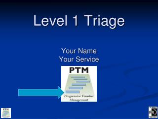 Level 1 Triage Your Name Your Service