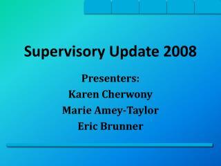 Supervisory Update 2008