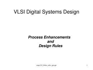 VLSI Digital Systems Design