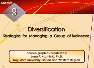 Diversification Strategies  for  Managing  a  Group  of Businesses
