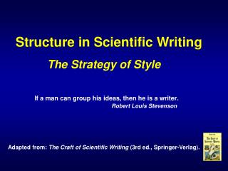 Structure in Scientific Writing