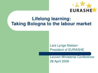 Lifelong learning: Taking Bologna to the labour market