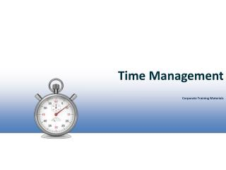 Time Management Corporate Training Materials