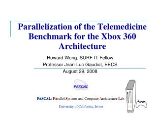 Parallelization of the Telemedicine Benchmark for the Xbox 360 Architecture