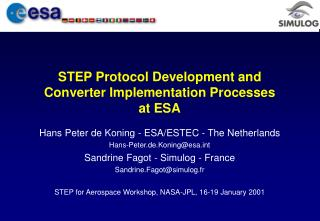 STEP Protocol Development and Converter Implementation Processes at ESA