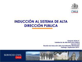 INDUCCIÓN AL SISTEMA DE ALTA DIRECCIÓN PUBLICA