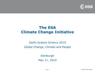 The ESA  Climate Change Initiative
