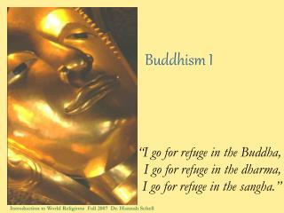 Buddhism I