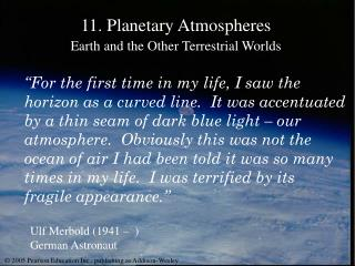 11. Planetary Atmospheres Earth and the Other Terrestrial Worlds