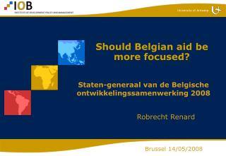 Should Belgian aid be more focused?