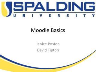 Moodle Basics