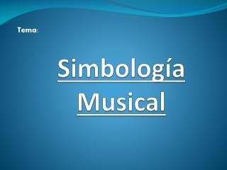 Simbología Musical